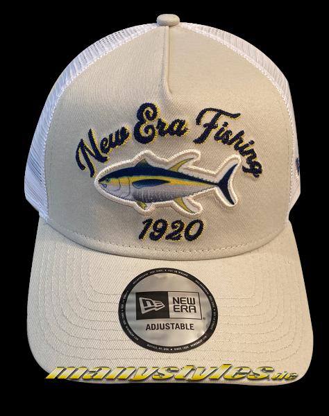 New Era Fishing 9FORTY Trucker Snapback Cap Fresh Khaki AFrame Curved von New Era