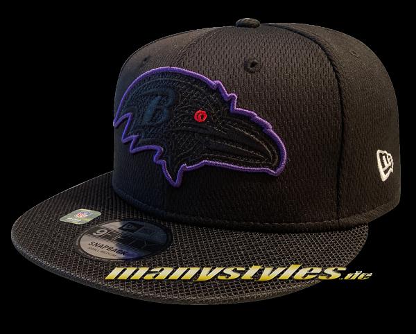 Baltimore Ravens 9FIFTY NFL21 SL RD 950 Snapback Cap Black Purple Red Red OTC Sideline 2021 von New Era