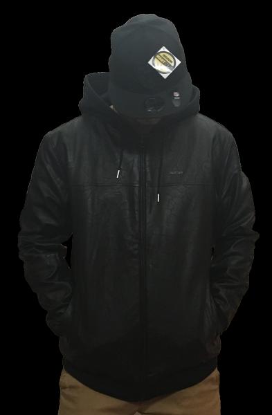 Pelle Pelle Leather Kapuzen Jacket