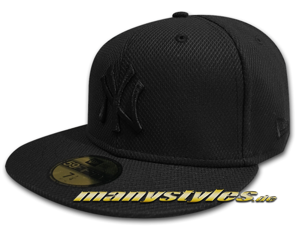NY Yankees MLB 59FIFTY Diamond Era Essential 5950 Cap Black on Black von New Era