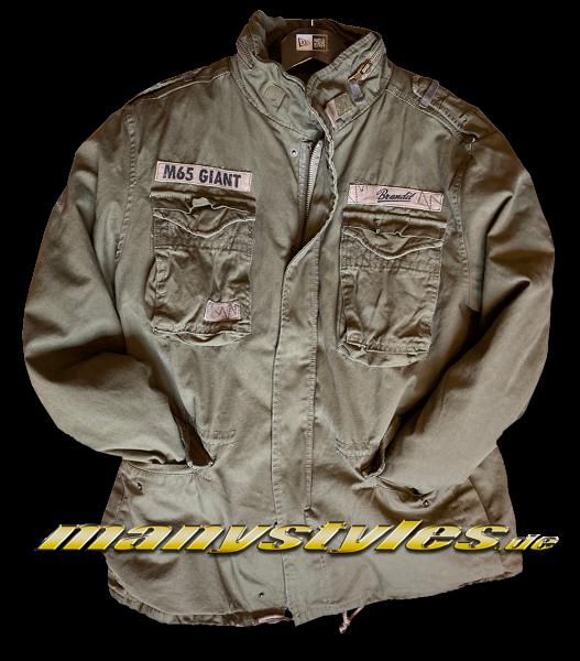 Brandit M65 Giant Vintage Army Parka Jacket Olive