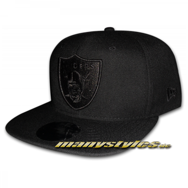 Oakland Raiders NFL 9FIFTY Original Fit exclusive Snapback Cap Black on Black