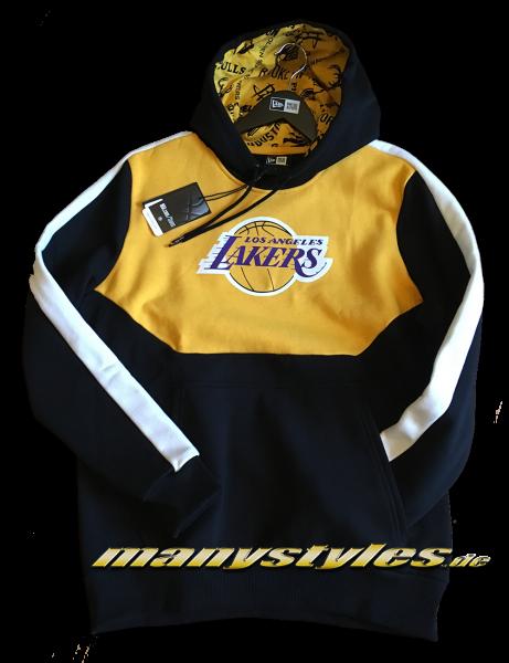LA Lakers NBA Color Block Hoody Hooded Sweathirt Black Purple Yellow OTC von New Era