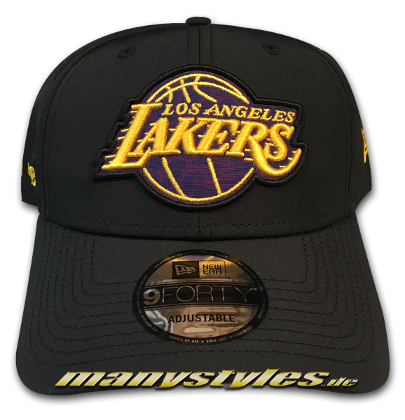LA Lakers NBA 9FORTY Curved Visor Cap Hook 940 Black OTC von New Era