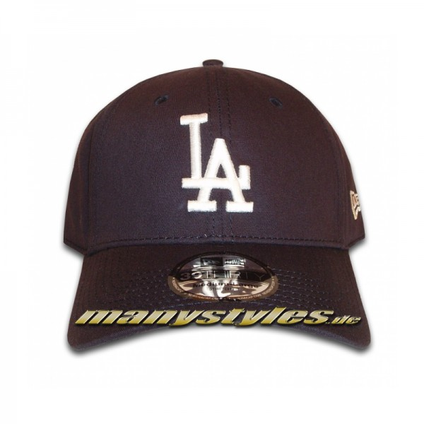 LA Dodgers 39THIRTY MLB League Basic Stretch Flex Cap Navy White