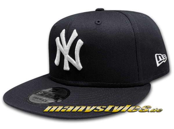 NY YANKEES New Era 9FIFTY Denim Basic Authentic Snapback Cap Team Color Navy White von New Era