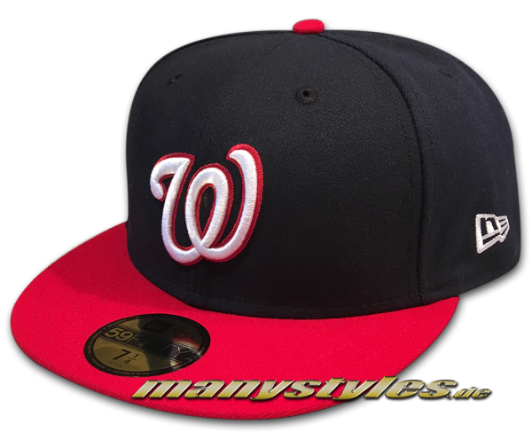 Washington Nationals 59FIFTY MLB NE Team Structure authentic performance on field Cap von New Era