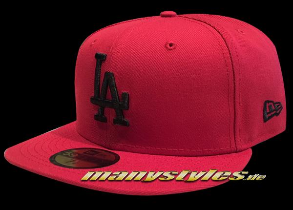 LA Dodgers MLB 59FIFTY Fitted league Essential Cap uCardinal Red Black von New Era