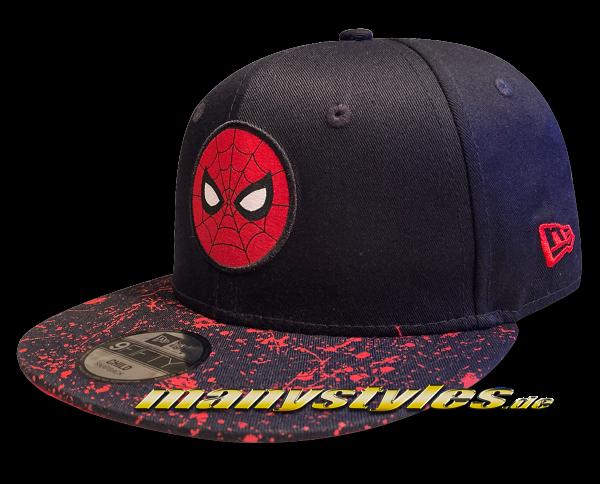 Marvel Comic Spiderman Kids Pack 9FIFTY Child CY Paint Splat Visor Kids 950 9FIFTY Snapback Cap von New Era