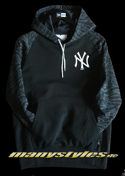 NY Yankees MLB Print Panel Hooded Black Graphite von New Era