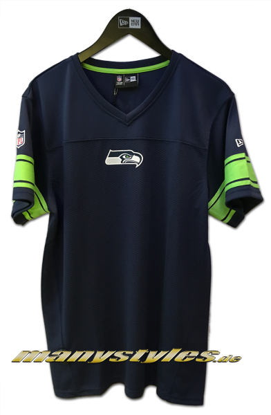 Seattle Seahawks NFL Team Jersey Navy Green OTC Team Color von New Era
