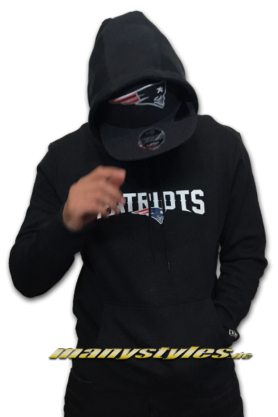 New England Patriots NFL Pull Over Hoody Graphite Charcoal Official Team Color OTC von New Era