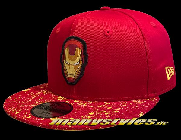 Marvel Comics Ironman Avengers CY Paint Splat Visor Kids 950 9FIFTY Snapback Cap von New Era