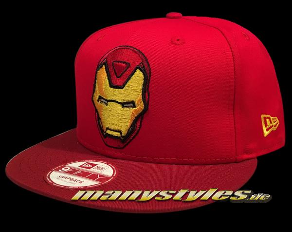 Marvel Comics Ironman The Golden Avenger 9FIFTY Hero Pop Snapback Cap in Scaret Red von New Era