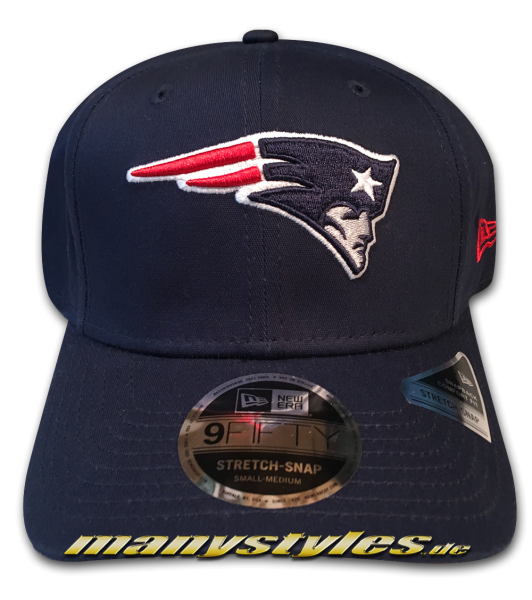 New England Patriots 9FIFTY NFL Team Stretch Fit Snapback Cap Navy Official Team Color OTC von New Era