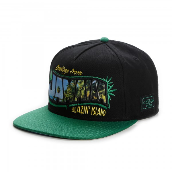 Cayler & Sons Snapback Cap Greetings from Jamaica Blazin Island