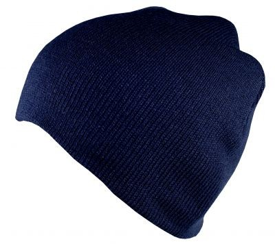 Blank Flex Fit Basic Beenie Dark Navy von Yupoong