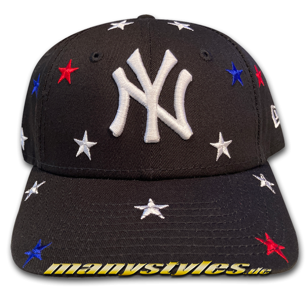 NY Yankees MLB Kids 9FORTY Stars Curved Cap Black