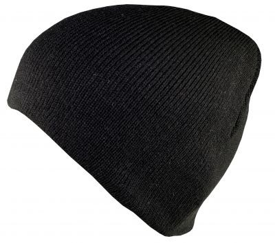 Blank Flex Fit Basic Beenie Black von Yupoong