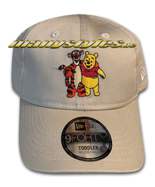 Disney Winnie Pooh and Tigger Kids Character 940 Curved Visor adjustable Cap Khaki Team von New Era