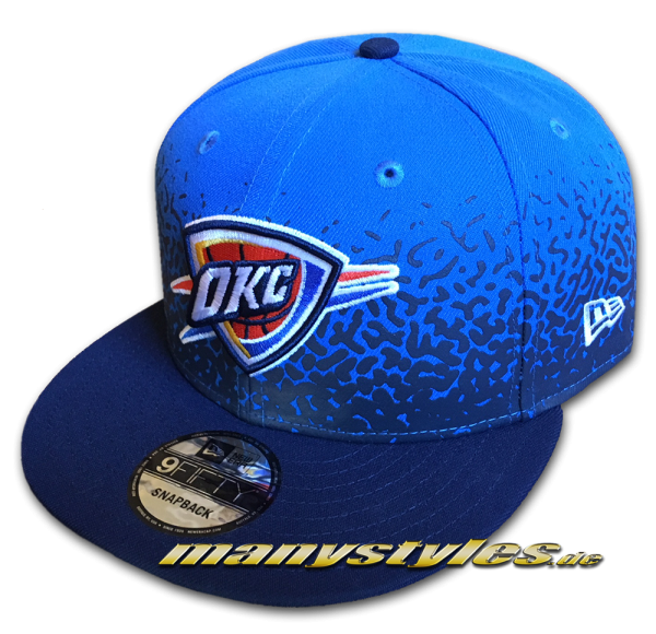 New Era Oklahoma City Thunder 9FIFTY NBA Speckle Rise Snapback Cap Navy Royal