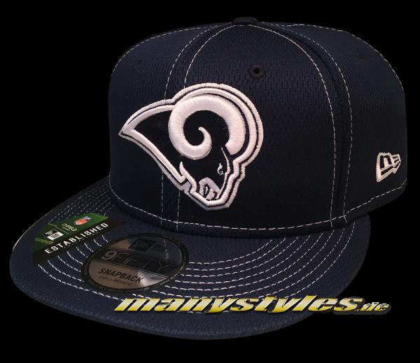 Los Angeles Rams 9FIFTY NFL19 SL RD 950 Snapback Cap Navy White OTC Sideline 2019 von New Era