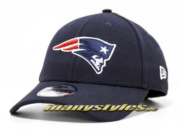 New England Patriots 9FORTY NFL The League Curved Visor Adjustable Cap Navy Original Team Color OTC von New Era