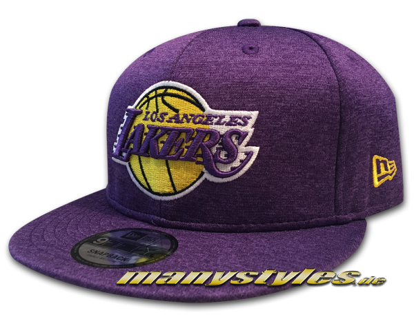 LA Lakers NBA 9FIFTY Shadow Tech Snapback Cap Purple Yellow OTC von New Era