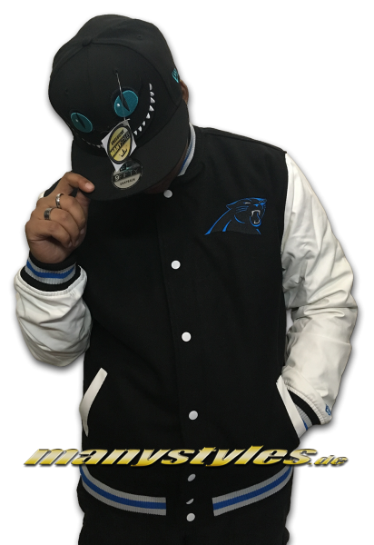 Carolina Panthers NFL Varsity Jacket Black Carolina Blue OTC von New Era