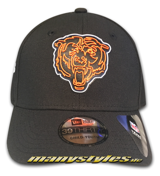 manystyles_de newera_Chicago Bears_nfl20_3930_draft_official_39THIRTY_curved_viosor_cap_black_otc_front