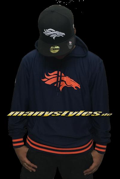 Denver Broncos NFL Dry Era Hoody Hooded Sweatshirt Navy OTC von New Era