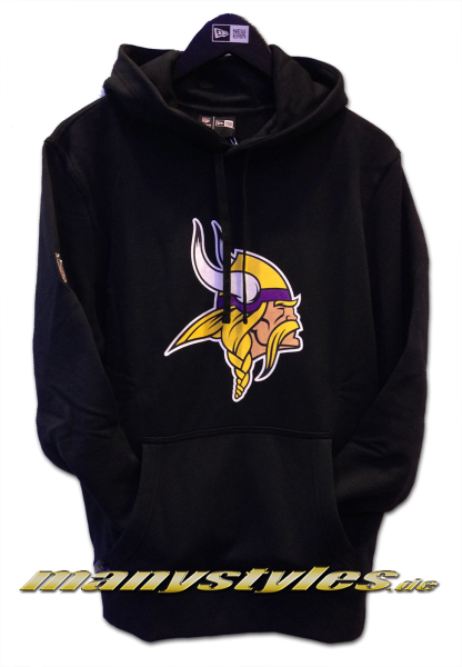 Minnessota Vikings NFL Team Logo PO Hood Hooded Black Team Color von New Era