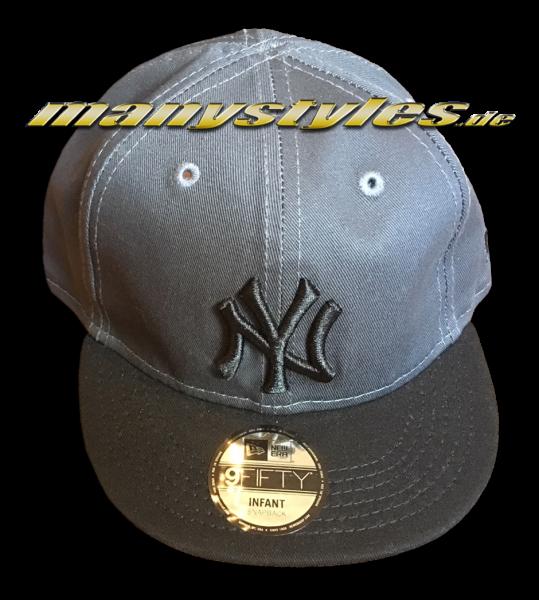 NY Yankees 9FIFTY Basic Infant Snapback Cap Graphite Black von New Era