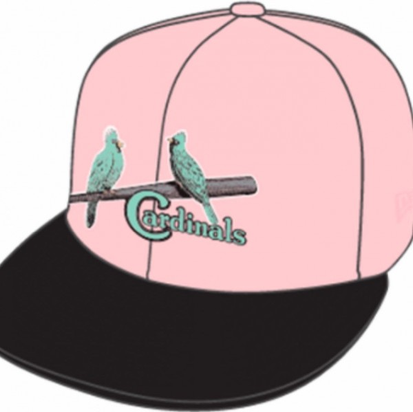 St. Louis Cardinals MLB 59FIFTY manyStyles Pastell exclusive in MiamiViceStyle Pink Mint Color von New Era