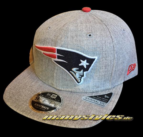 New England Patriots 9FIFTY NFL Heathered Hype OF Original Fit Snapback Cap Original Official Team Color OTC von New Era