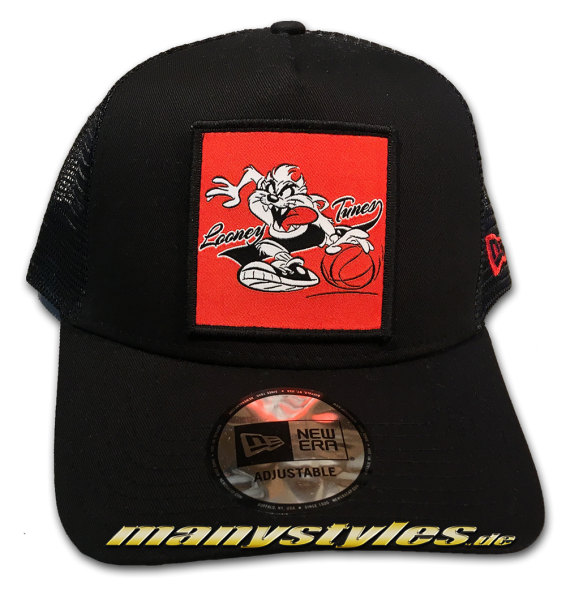 Looney Tunes Taz Trucker Adjustable Cap Black von New Era von New Era