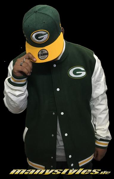 Greenbay Packers NFL Varsity Jacket Green OTC von New Era