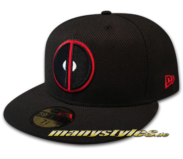 Marvel Comic Deadpool 59FIFTY Diamond Era Fitted exclusive Cap Black Red von New Era