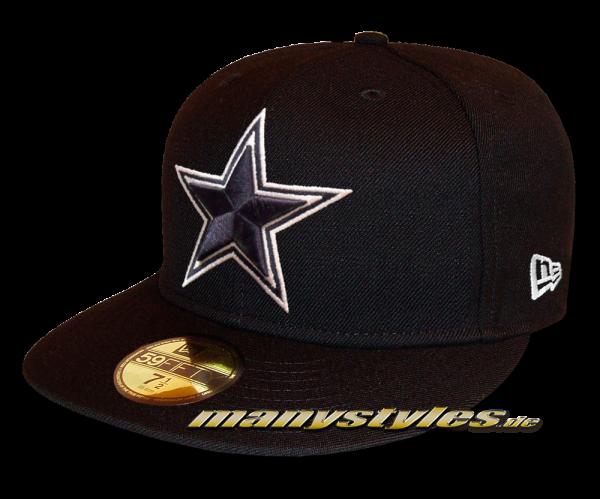 Dallas Cowboys NFL 59FIFTY Exclusive Cap Black Navy OTC Original Team Color von New Era