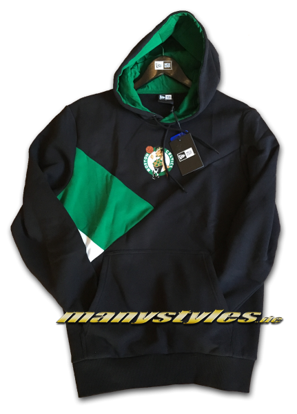 Boston Celtics NBA Color Block PO Hoody Hooded Sweathirt Black Green White OTC von New Era