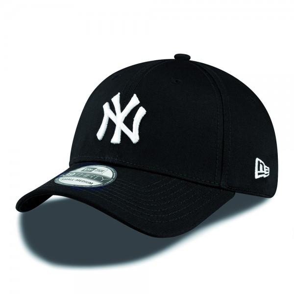 NY Yankees MLB 39THIRTY Stretch Flex Fit Cap Black White von New Era