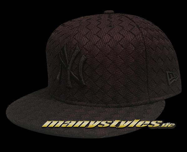 NY Yankees mlb new era 9fifty snapback cap fl all over woven black on black frontside