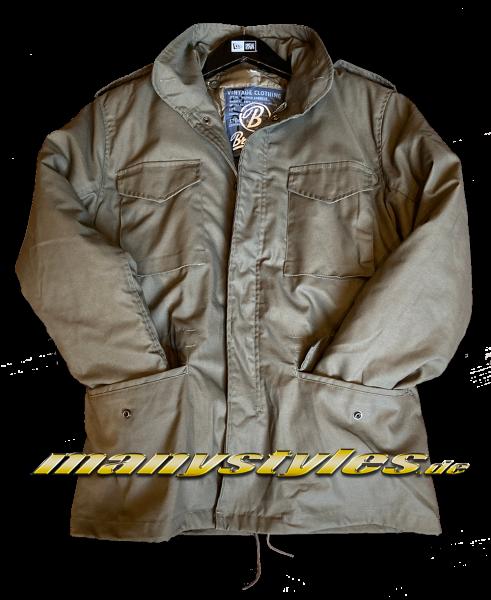 Brandit M65 Army Parka Jacket Olive Vintage Wear