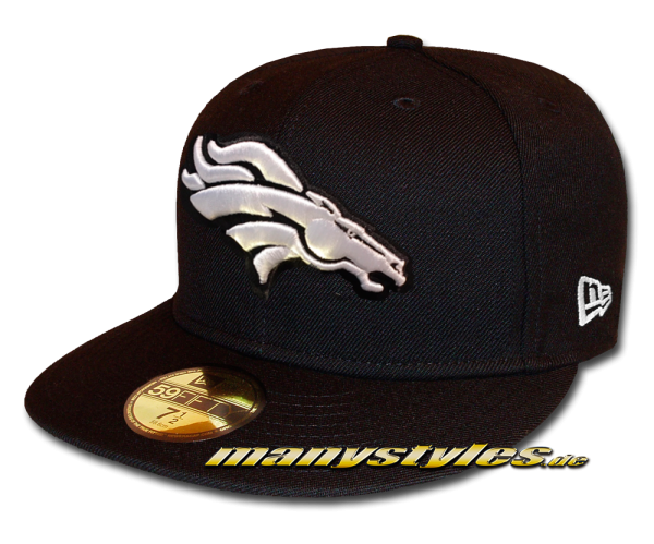 Denver Broncos 59FIFTY Fitted Cap League Essential Basic Fit2 Black White von New Era