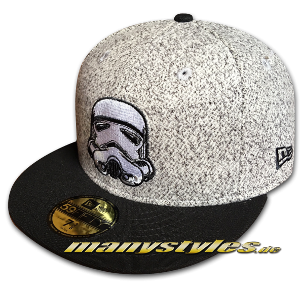 Star Wars Licensed Disney 59FIFTY Fitted Cap Storm Trooper Melton Crsp Heather Grey von New Era