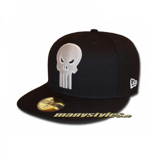 Punisher 59FIFTY Marvel exclusive Cap Black White