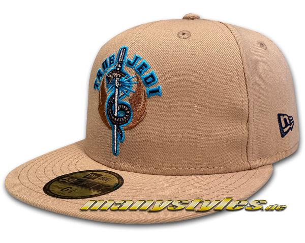 Star Wars Licensed 59FIFTY fitted manystyles exclusive Cap True Jedi in Oatmeal von New Era Front