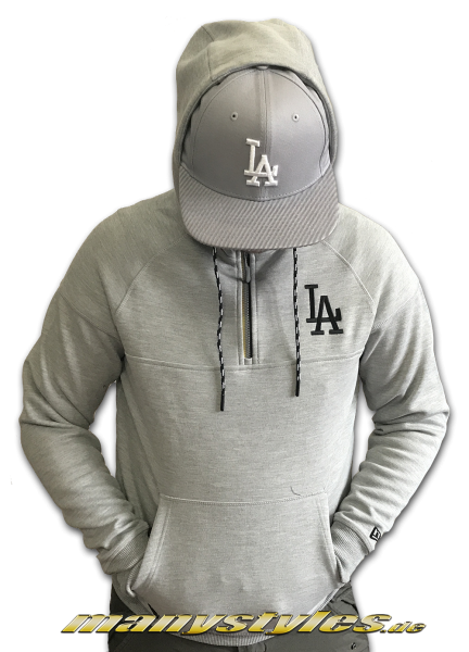 LA Dodgers MLB Tech Series HZ Hooded Light Heather Grey von New Era