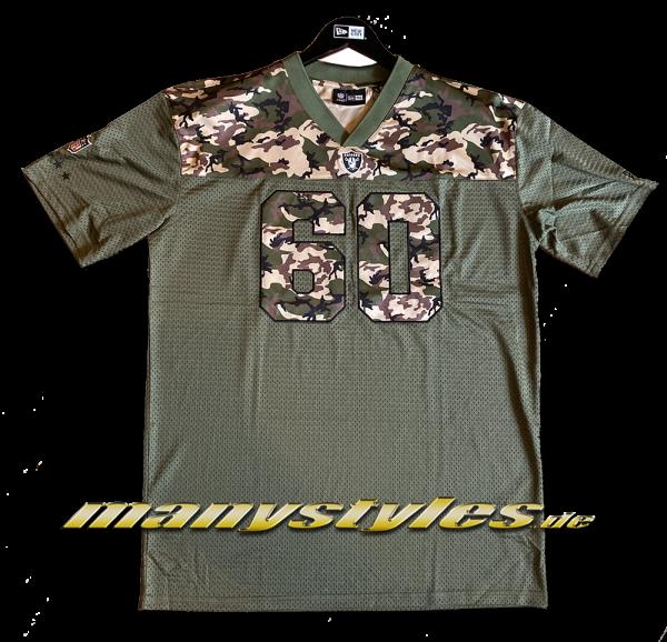 Las Vegas Raiders NFL Camo Infill Oversized Mesh Tee Jersey November Olive Woodland Camouflage von New Era