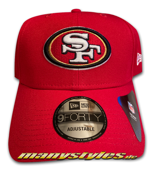 San Francisco 49ers NFL 9FORTY Adjustable Authentic Curved Visor Cap von New Era